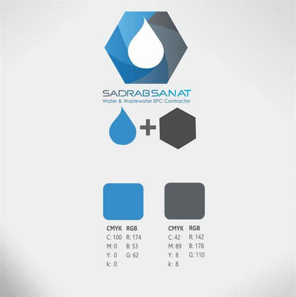 طراحی لوگو با استفاده از رنگ آبی توسط طراحان کانون تبلیغاتی گراف