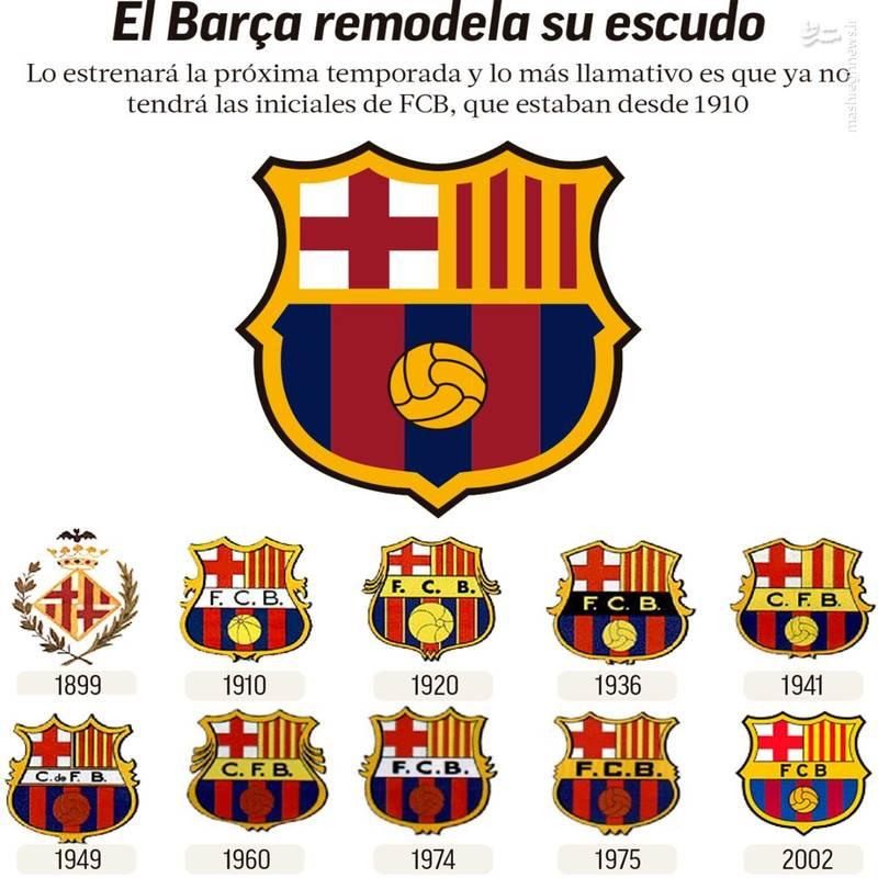 لوگو باشگاه بارسلونا اسپانیا